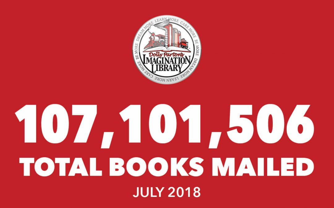 Dolly Parton's Imagination Library July Book Totals 2018