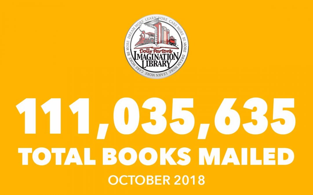 Dolly Parton's Imagination Library October Book Totals 2018