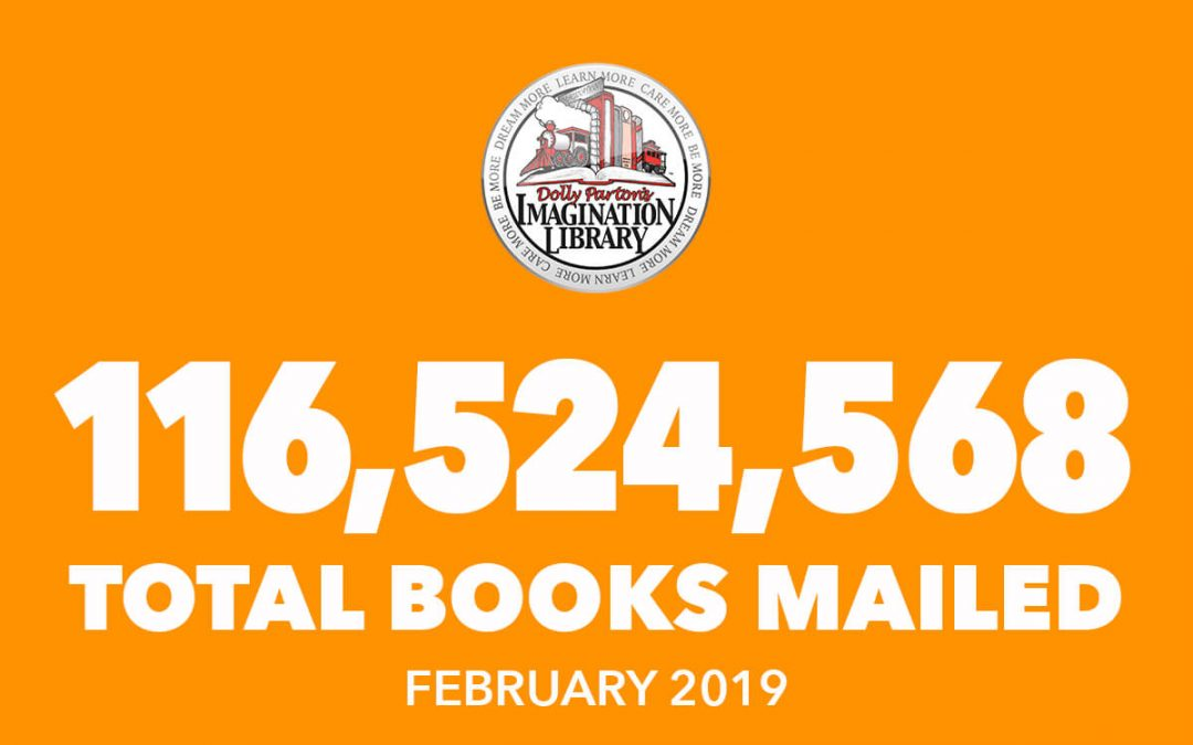 Dolly Parton's Imagination Library February Book Totals 2019