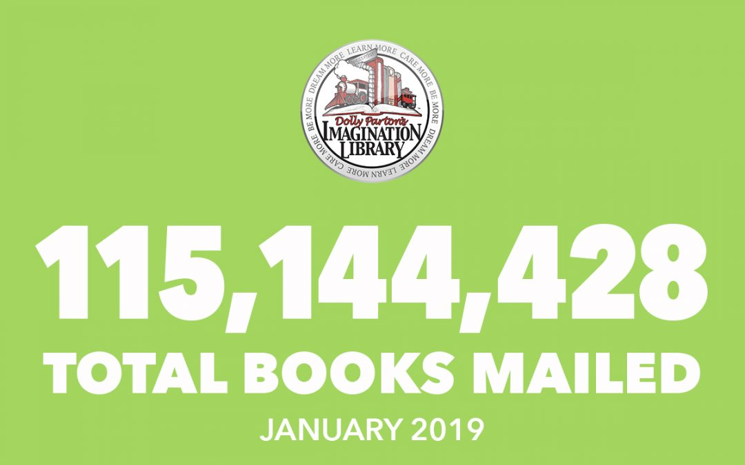 January 2019 Total Books Mailed Dolly Parton's Imagination Library