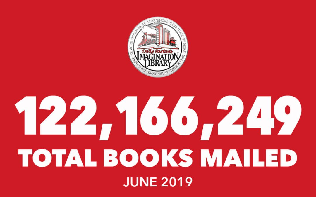 Over 122 Million Free Books Mailed As Of June 2019