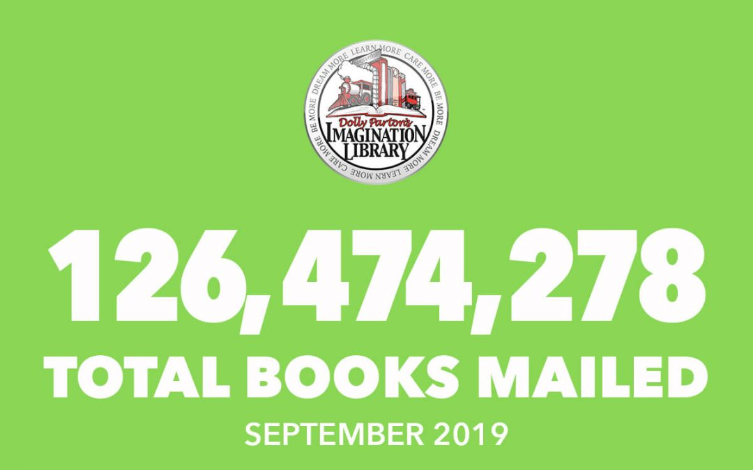 Over 126 Million Free Books Mailed As Of September 2019