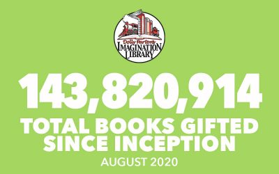 August 2020 Total Books - Dolly Parton's Imagination Library