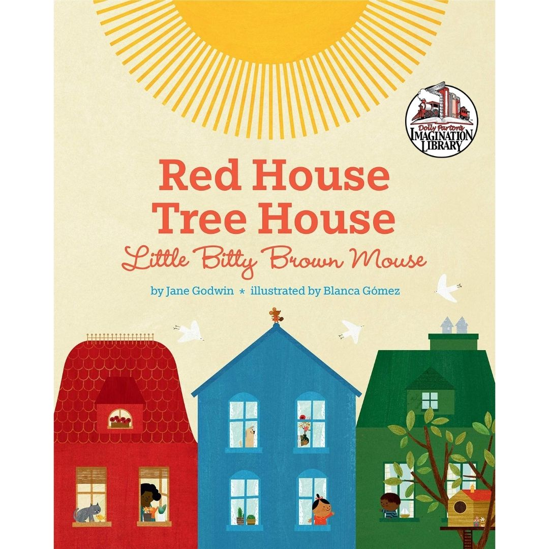 Red House Tree House Itty Bitty Brown Mouse – Dolly Parton's Imagination Library